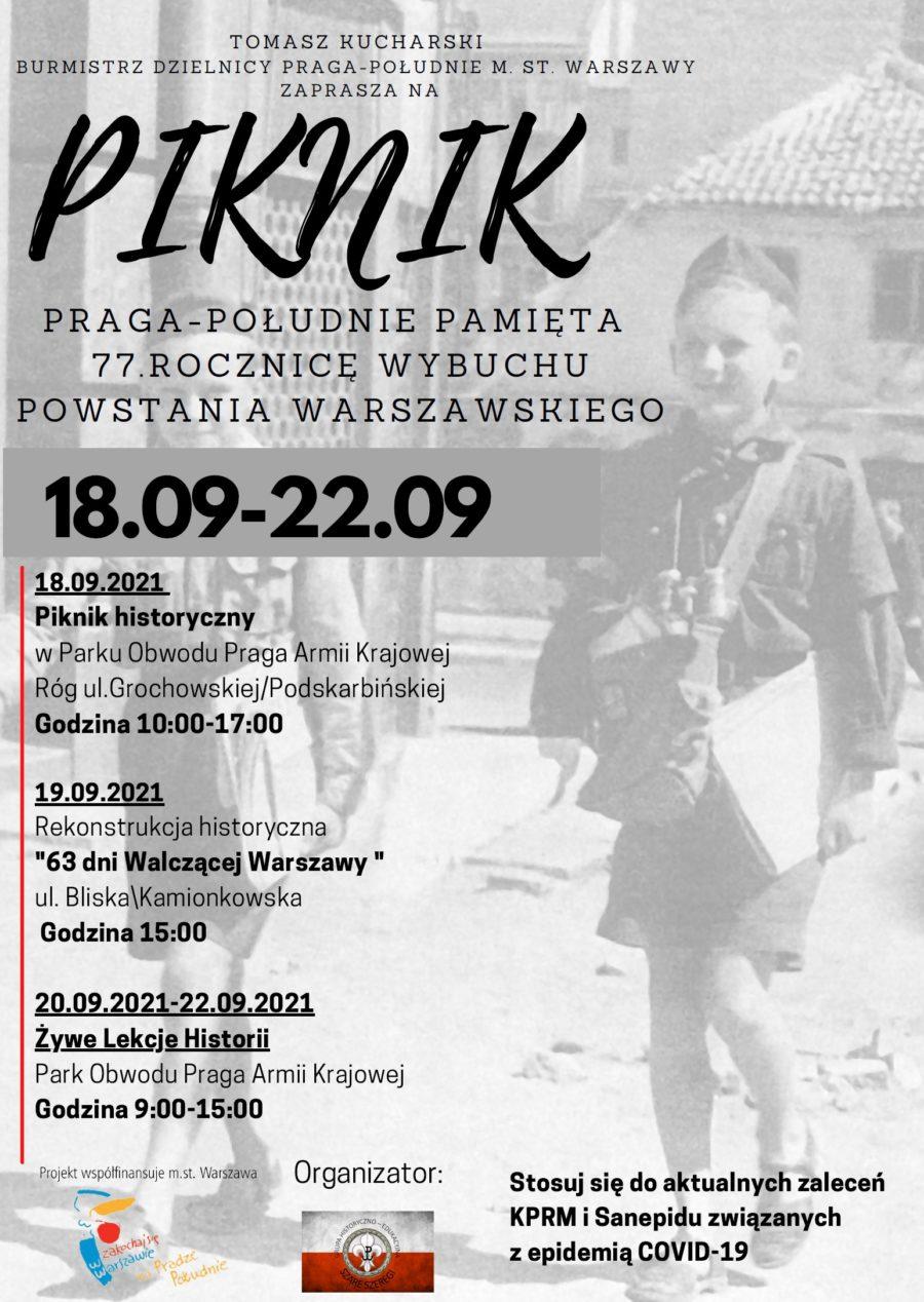 """""""Praga-Południe pamięta 77. rocznicę wybuchu Powstania Warszawskiego"""""""