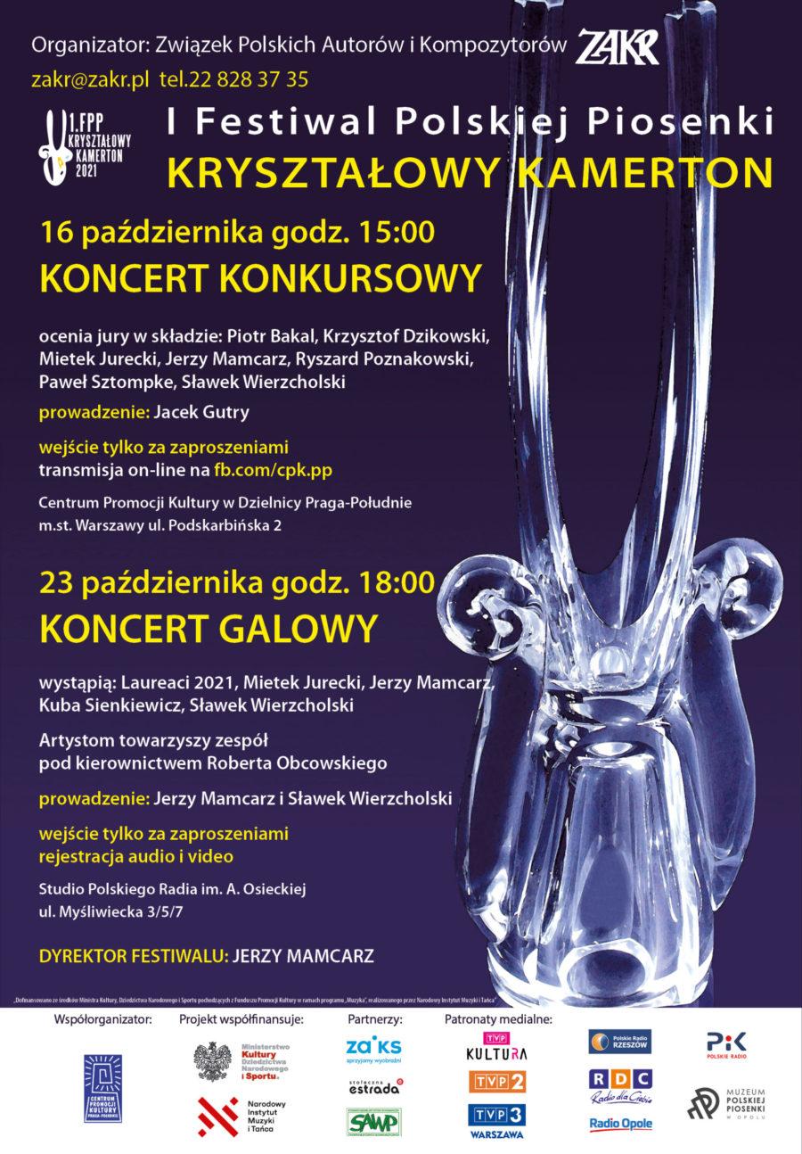 """I Festiwal Polskiej Piosenki """"Kryształowy Kamerton"""" 2021 – WYNIKI"""
